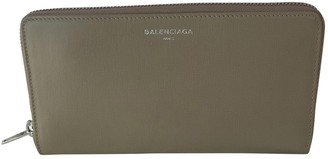Balenciaga Beige Leather Wallets