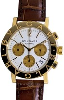 Bulgari Bvlgari BB38 GLCH Bvlgari 18K Yellow Gold White Dial Automatic Chronograph 38mm Watch