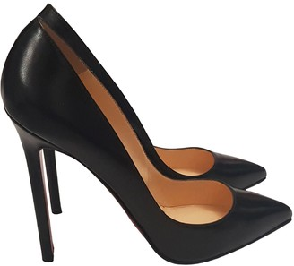 Christian Louboutin Pigalle Black Leather Heels