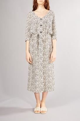 Des Petits Hauts Black White Printed Toselli Dress - SMALL