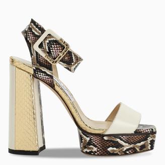 Jimmy Choo Python print JAX/PF 125 sandals
