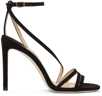 Jimmy Choo Black Suede Tesca 100 Sandals