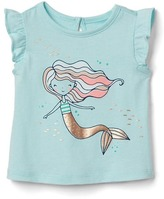 Gap Mermaid graphic keyhole flutter tee