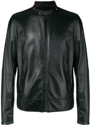Bally Leather Biker Racer Jacket