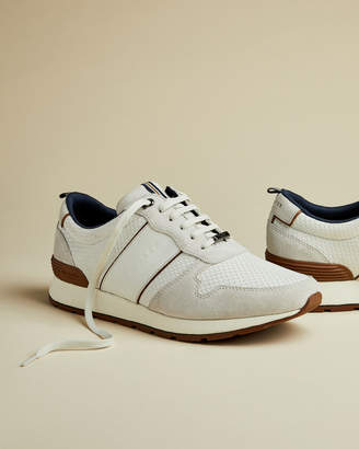 Ted Baker LHENNIR Nubuck and textile sneakers