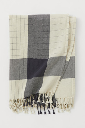 H&M Cotton Tablecloth with Fringe - Gray