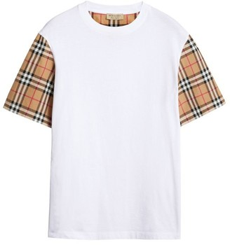 Burberry Vintage Check Sleeve Cotton T-shirt