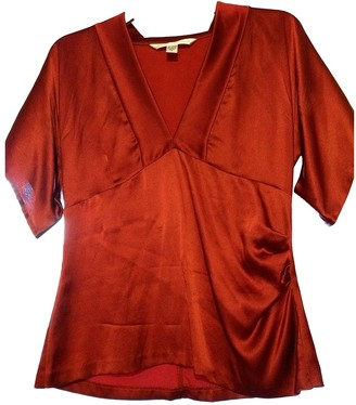 Diane von Furstenberg Red Silk Top for Women