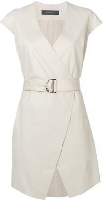 FEDERICA TOSI Belted Cap Sleeve Dress