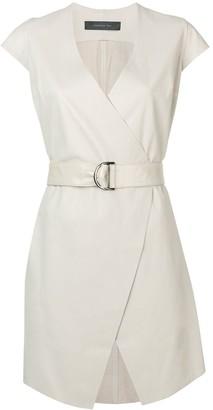 FEDERICA TOSI belted cap sleeve dress
