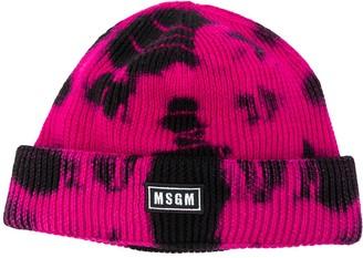 MSGM Tie-Dye Logo-Patch Hat