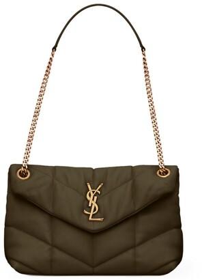 Saint Laurent Small Leather Puffer Loulou Shoulder Bag