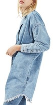 Topshop Women's Elton Fray Denim Shirtdress