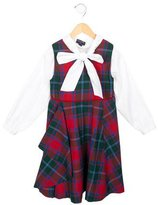 Oscar de la Renta Girls' Plaid Wool Dress