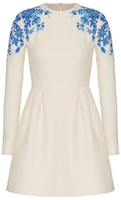 Valentino Long-Sleeved Mini Dress