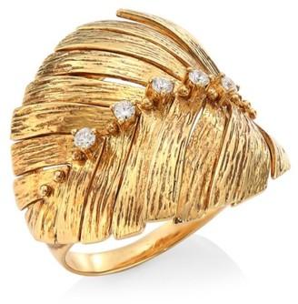 Hueb Bahia 18K Gold & Diamond Leaf Ring