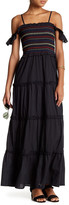 Romeo & Juliet Couture Embroidered Tiered Maxi Dress