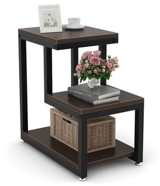 Latitude Run Abdul Nafi End Table with Storage Color: Brown