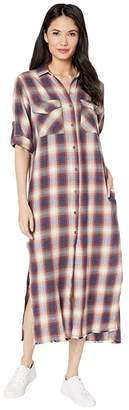 Bella Dahl Ombre Flannel Maxi Shirtdress Or Duster