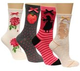 Disney Women's 4-Pk. Assorted Princesses Socks