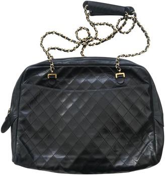 Chanel Camera Black Leather Handbags