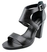 Lauren Ralph Lauren Tahira Women Open Toe Leather Black Sandals.