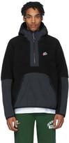 Nike Black Sherpa Fleece Pullover Jacket