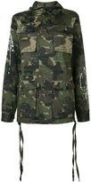 Haculla camouflage print hooded coat