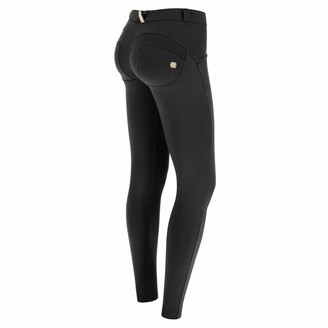 Freddy WR.UP Skinny-fit Stretch Cotton Trousers - Black - Large