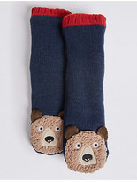 Marks and Spencer Bear Moccasin Socks (1-14 Years)