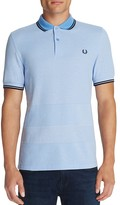 Fred Perry Oxford Stripe Slim Fit Pique Polo