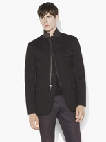 John Varvatos Multi-Closure Notch Lapel Jacket