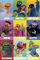 Sesame Street Characters as Music Genres Children's Kids Learning TV Television Series Show Poster Print 24x36