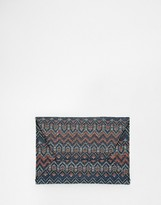 MANGO Geo-Tribal Clutch Bag