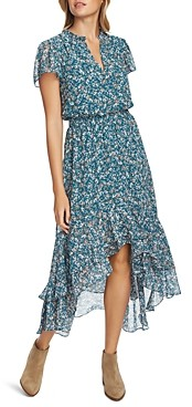 1 STATE Floral Print High/Low Dress