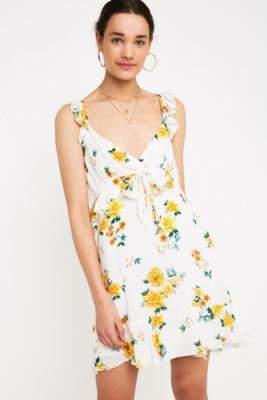 MinkPink Lemon Bloom Mini Dress - assorted XS at Urban Outfitters