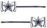 Aminco Dallas Cowboys Bow-Logo Bobby Pin - Set of Two