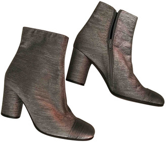 Maliparmi Silver Leather Ankle boots