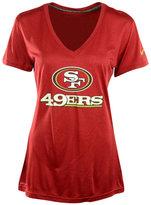 Nike Women's Short-Sleeve San Francisco 49ers V-Neck T-Shirt