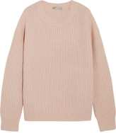 Vince Ribbed Wool-blend Sweater - Blush