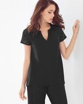 Soma Intimates Popover Pajama Top Black