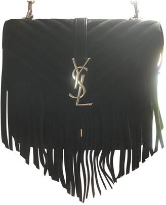 Saint Laurent CollAge monogramme Black Suede Handbags