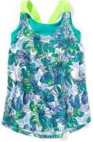 Old Navy Go-Dry Cool Exposed Elastic 2-in-1 Tank for Girls