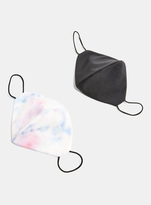 Topman 2 Pack Black and Multicoloured Fashion Face Mask*