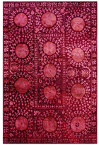 nuLoom Hand-Knotted Medallion Overdyed Wool Rug