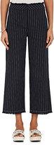 Alexander Wang Women's Cotton Burlap Crop Wide-Leg Pants