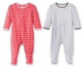 Circo CircoTM Baby Girls' 2-Pack Striped Footed Sleeper - Pink