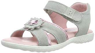 Richter Kinderschuhe Girls' Sole Ankle Strap Sandals, Grey (Flint/Candy 1821), 7.5 UK