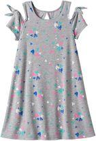 Girls 7-16 & Plus Size SO® Patterned Cold Shoulder Swing Dress