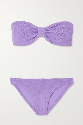 Hunza G Jean Seersucker Bandeau Bikini - Lilac